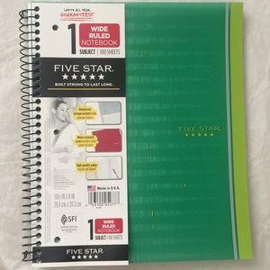 New Five star notebook